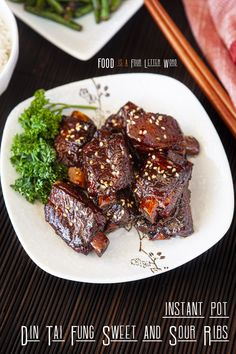 Instant Pot Din Tai Fung Sweet and Sour Pork Ribs Recipe – FOOD is Four Letter Word Pork Rib Recipes, Asian Recipes, Crockpot Recipes, Chinese Recipes, Chinese Food, Japanese Food, Instant Pot Pressure Cooker, Pressure Cooker Recipes, Slow Cooker
