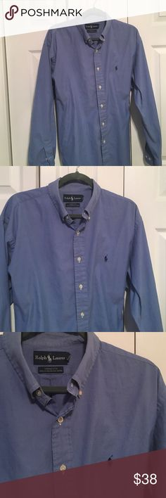 💕💕Ralph Lauren ' Perfect ' Shirt Gorgeous Blue Button Down , 100% Cotten , Yarmouth Pinpoint Oxford , Love This Shirt But This Is About The Fifth Shirt Exactly Like This In My Husbands Closet !!! ❤️ Ralph Lauren Shirts Casual Button Down Shirts