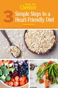 3 Simple Steps to a Heart-Friendly Diet Heart Healthy Diet, Heart Healthy Recipes, Healthy Choices, Healthy Snacks, Clean Eating Recipes, Diet Recipes, Cooking Recipes, Keto, Healthy Lifestyle