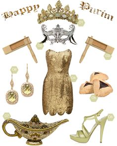 So very cool!  I'd wear it all for Purim!  Love the mask!