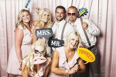 pink fun photobooth wedding