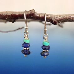 Lapis and Turquoise Earrings by EastVillageJewelry on Etsy, $15.00 awesome jewelry~reasonable prices~free shipping www.eastvillagejewelry.etsy.com
