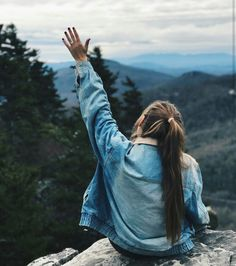 Waving to the local chipmunks// Kristin Johns Hiking Photography, Photography Poses, Kristin Johns, Tumblr Girls, Adventure Is Out There, The Great Outdoors, Girly, Pictures, Beautiful