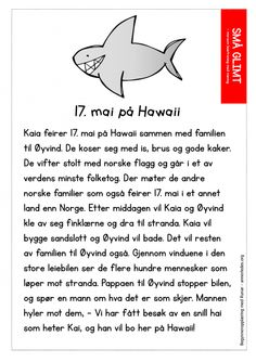 Små glimt - 17maipahawaii Norway, Education, School, Activities, Teaching, Training, Educational Illustrations, Learning, Studying