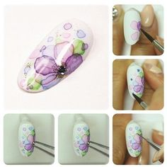 80 Awesome Acrylic Almond Nails Designs - Care - Skin care , beauty ideas and skin care tips Sharpie Nail Art, Nail Art Diy, Cool Nail Art, Diy Nails, Cute Nails, Flower Nail Designs, Flower Nail Art, Nail Designs Spring, Cool Nail Designs