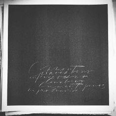 Petite cursive grattée #christelllop #calligraphy #whiteandblack
