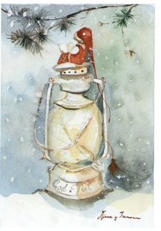 Minna Immonen ck can't see too well, but looks like a mouse on lantern reading a book!