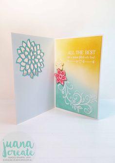 Juan Ambida Independent Stampin' Up!® Demonstrator Australia: Falling Flowers and Better Together - Wedding Card