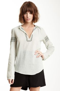 April, May Crux Embroidered Blouse