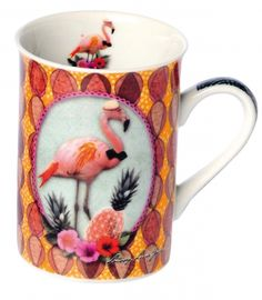 FLAMINGO~MUG TROPICAL FLAMANT