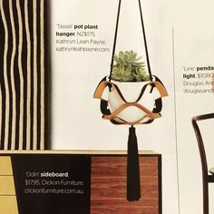 Super happy to see our black and russet Tassel Plant Hanger is featured in @insideoutmag this month!
