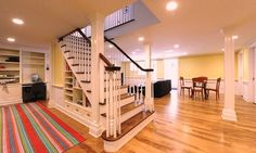 Ideas For Building Stairs Design Basements Basement Stairway, Basement Steps, Basement Layout, Basement Finishing, Entry Stairs, Walkout Basement, Building Stairs, Stair Storage, Basement Storage