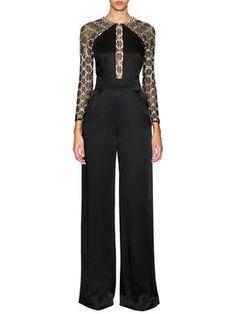 Klara Satin Embellished Raglan Jumpsuit from Up to 80% Off: Temperley London on Gilt