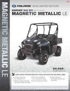2013 Polaris Ranger 500 - Magnetic Metallic