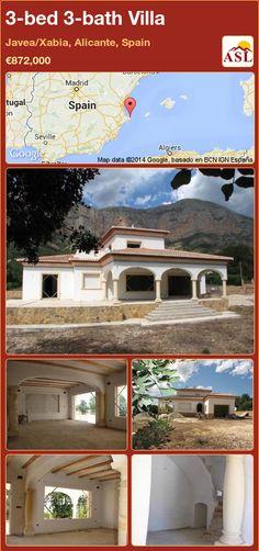 3-bed 3-bath Villa in Javea/Xabia, Alicante, Spain ►€872,000 #PropertyForSaleInSpain