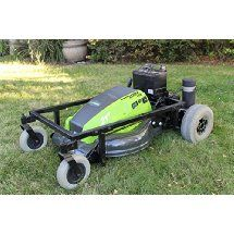 """21"""" Fully Electric Eco-Friendly Remote Control Lawn Mower"""
