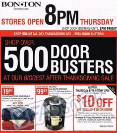bon ton black friday ad scan for 2013 page 1 of 80