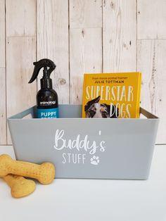 Cute small personalised box for 🐶 Cute Storage Boxes, Dog Storage, Dog Photo Frames, Little Girl Pictures, Sweet Jars, Dog Treat Jar, Gotcha Day, Personalised Frames, Dog Shampoo