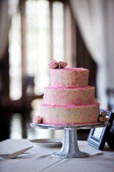 pink sprinkle cake #pink #sprinkles #cake