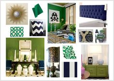 Kelly Green & Navy - great trend forward color combo