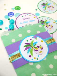 Bird's Party Printables and Party Ideas Blog: FREE Mardi Gras Party Printables