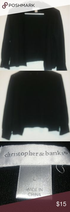Christopher & Banks Black sweater Solid black sweater. Great to keep in that extra warmth during the cooler days. Christopher & Banks Sweaters Shrugs & Ponchos