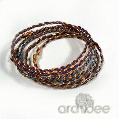 Bracciale Tecnica Wire | Tutorial Rapunzel Bracelet + Review Ho realizzato questi bracciali con trecce doppie in rame e cordino...