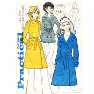 Very chic 1960s mod rain coats sewing pattern