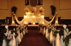 traditional wedding decorations in church | Decoration: Church Decorations