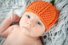Baby Pumpkin Beanie Hat Only FT001 by FischTales on Etsy