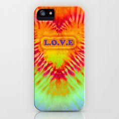 Dye Heart L.O.V.E iPhone Case by Vikki Salmela - $35.00