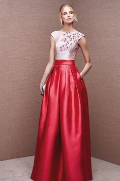 2016 Sexy Open Back Scoop Satin With Beads Evening Dresses A Line Bicolor US$ 179.99 STP9KKHTGG - StylishPromsDress.com for mobile