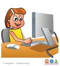 Computer  Onderdeel van de basisset Zonneroosje.  Peuterplanbord, specialist in planborden en pictogrammen voor kinderen