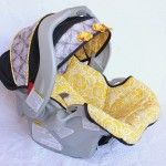 tutorial for recovering a baby carseat-this website has a TON of free patterns, etc..