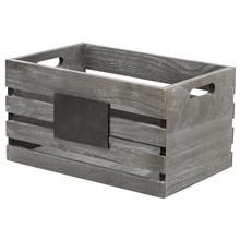 Petite caisse en bois avec tableau noir