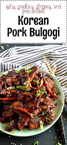 Korean Pork Bulgogi – Lord Byron's Kitchen - Pork Recipes Lord Byron, Asian Recipes, Healthy Recipes, Chops Recipe, Pork Chop Recipes, Pork Sirloin Recipes, Korean Food, Spicy Korean Pork, Spicy Pork Bulgogi Recipe