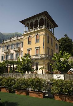 HOTEL VILLA MARIE, Tremezzo, Italy. A nineteenth century villa in Tremezzo turned into a comfortable and charming family-run hotel, that offers warm drawing-rooms in liberty style with wide windows and ancient frescoes. The Villa Marie is set in an enchanting scenery in the gulf of Venus, one of the loveliest corners of the Lake of Como.