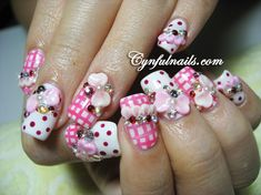 from Cynful Nails - nails with bows