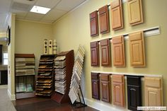 Image result for how to display different cabinet door styles Cabinet Door Styles, Cabinet Doors, Cabinet Ideas, Showroom Design, Showroom Ideas, Kitchen Showroom, Door Displays, News Space, Concept Board