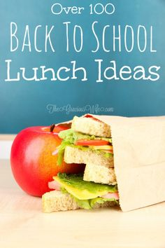 A collection of the BEST easy school lunch ideas for every family. Easy, healthy, allergy-conscious and gluten free, and more! | back to school | lunch ideas | school lunch | kids lunch