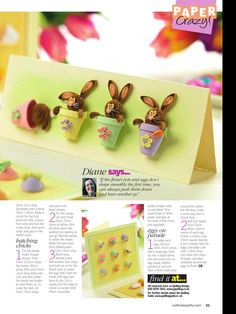 AWESOME Easter quilling! Cutest rabbits ever, need to try these, love their expressions. Must be the ears?