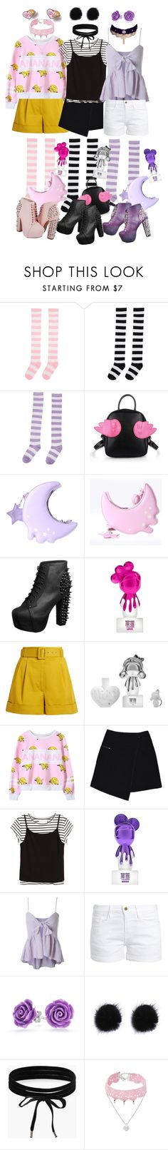 """""""Harajuku pop"""" by neon-life ❤ liked on Polyvore featuring Jeffrey Campbell, Harajuku Lovers, Isa Arfen, MARC CAIN, Frame, Bling Jewelry, Boohoo, Design Lab, Color and harajuku"""