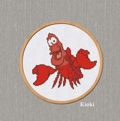 Cross Stitch Pattern Sebastian The Crab Little by TinyNeedle