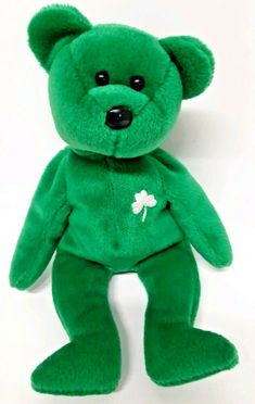 8125ab8045a Erin Lucky Clover Bear Green March 17 1997 Emerald Isle Retired Ty Beanie  Baby  Ty