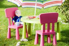 IKEA Kindermöbel wie MAMMUT Kindertisch, hellgrün drinnen/draußen hellgrün