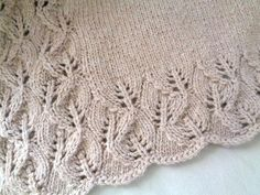 Sewing Baby Blanket Ravelry: Elora Baby Blanket pattern by Emily Johannes - Special babies deserve special blankets! This blanket features a pretty leaf lace border and is just as lovely to knit as it is to gift and use. Knitting Patterns Boys, Free Baby Blanket Patterns, Lace Patterns, Knitting For Kids, Crochet Patterns, Pattern Leaf, Border Pattern, Leaf Border, Knitted Baby Blankets