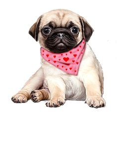 Pug Puppies New Dog Gifts Accessories Cute Pug Puppies, Cute Dogs, Dogs And Puppies, Pug Art, Cute Animal Drawings, Art Graphique, Dog Gifts, Clipart, Dog Lovers