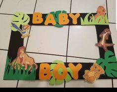 Lion King Photo Frame for babyshower!
