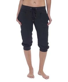Another great find on #zulily! Black Julie Capri Joggers #zulilyfinds