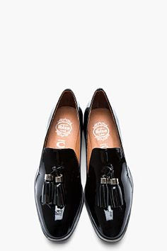 Jeffrey Campbell Black Patent and tasseled Lawford Flats